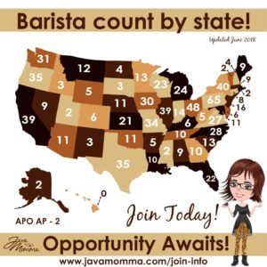 Barista Count By State! Opportunity awaits!