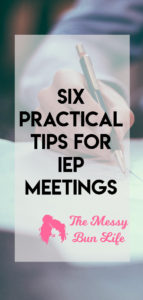 six practical tips for IEP meetings