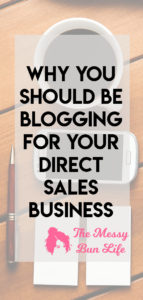 why you should be blogging for your direct sales business